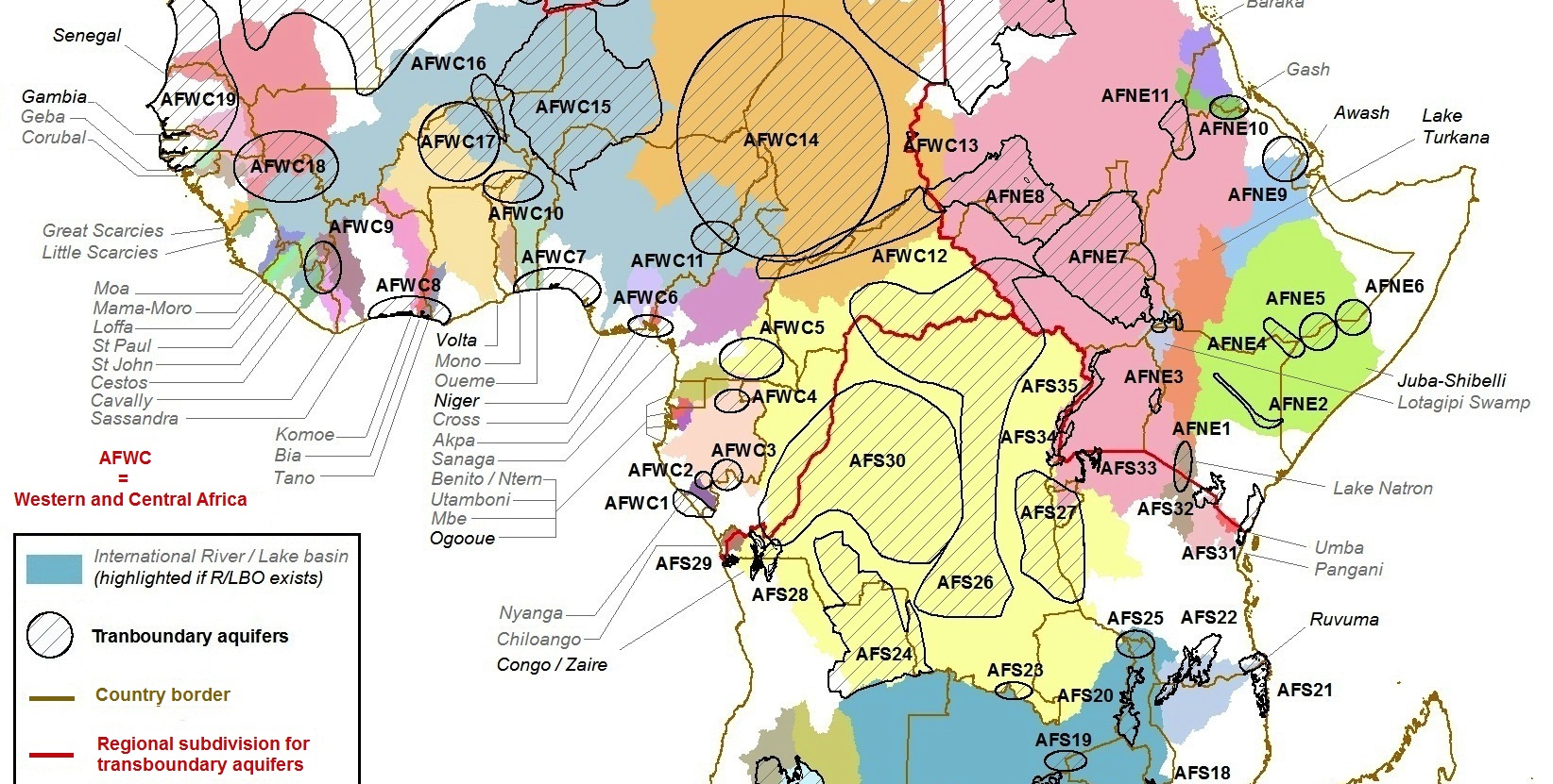 Transboundary Aquifer Map for Africa   Water, Land and ...