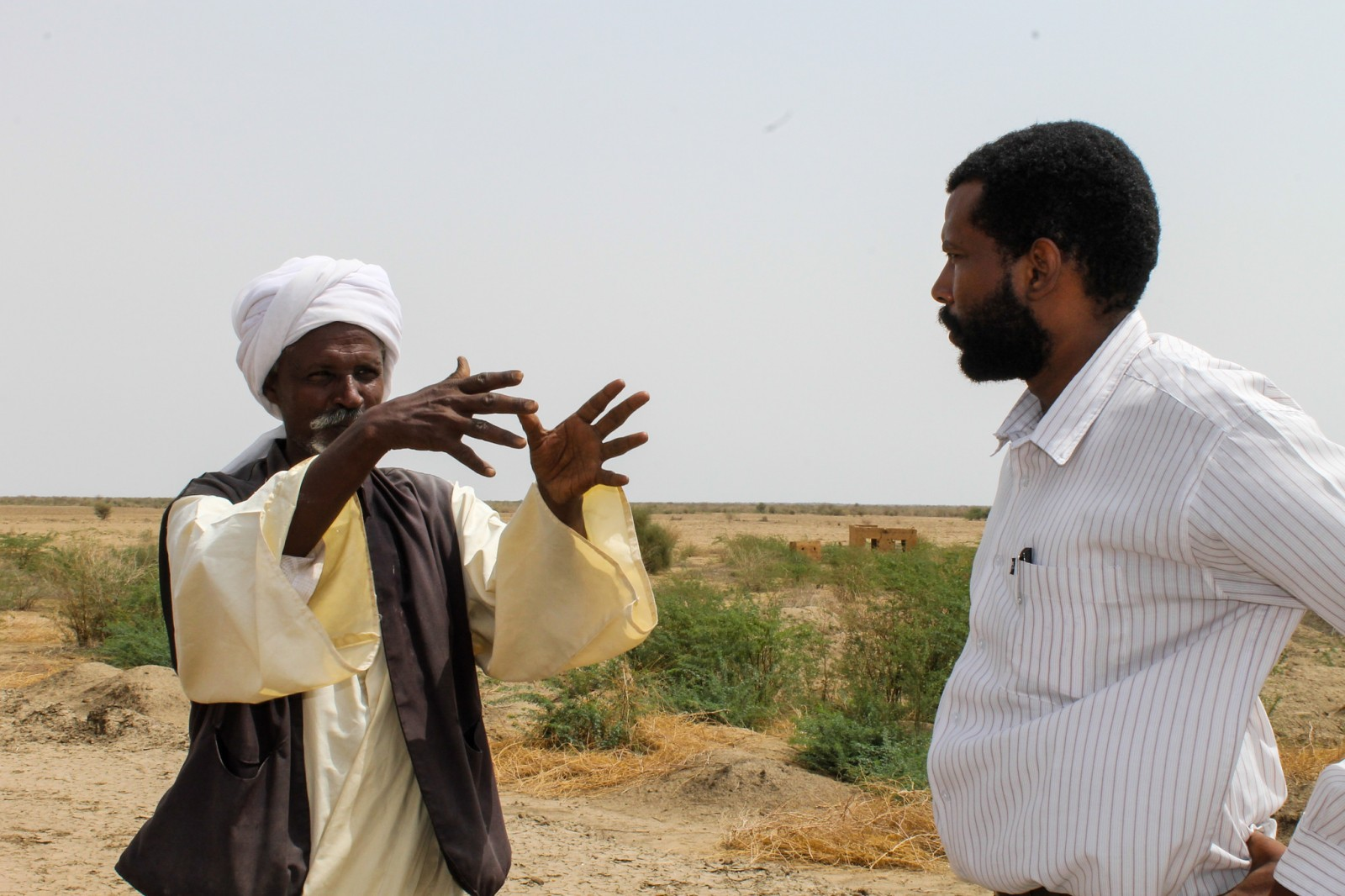 Community leader and researcher discuss local challenges in Gash Die, Sudan.