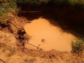 Small-scale rainwater capture for irrigation near Kaya.  Photo Credit: Mark Mulligan