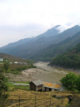 A village near Fugong that would be flooded if the Fugong Dam is built. Photo: International Rivers