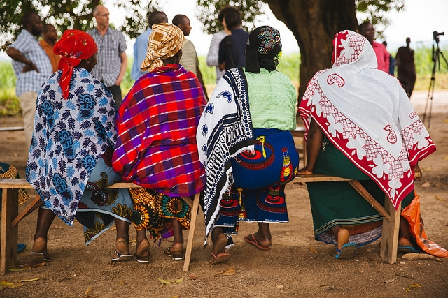 Women attend a local farmer's meeting in Kilosa, Tanzania.