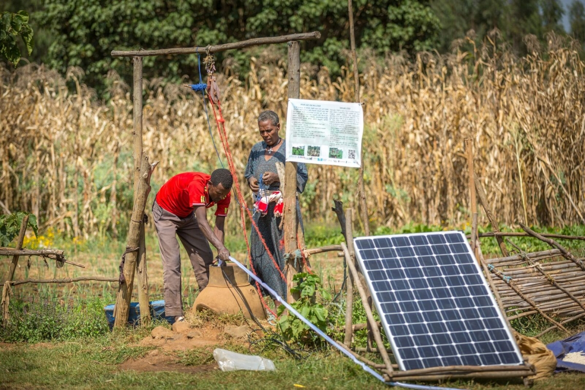Ethiopian farmers harvest irrigation water through solar technology