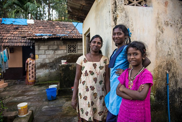 In Karnataka ADB project improves water rain water management benefitting the entire household. Photo: ADB