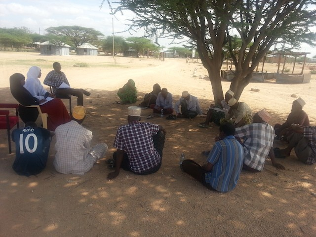 Focus group discussions in Madogashe, Kenya, where stakeholders are engaged in sharing their opinion regarding the pipeline project. Photo: Sarah Ogalleh/CETRAD
