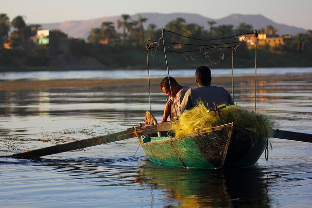 Fishermen in Luxor, Egypt. Photo: EmsiProduction on Flickr