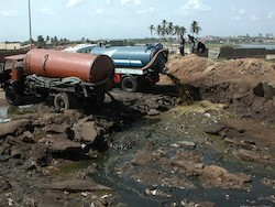 Unsafe disposal of sewage in the coastal areas of Accra, Ghana. Photo: Liqa Raschid-Sally
