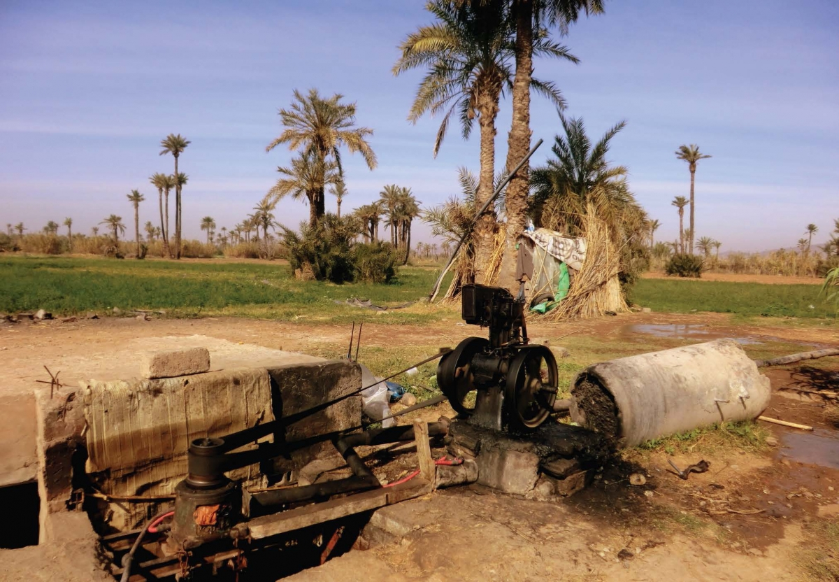 A groundwater irrigation pump in Morocco.