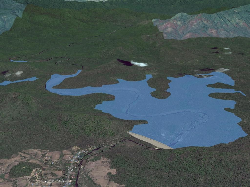 Sample image from the Dam Inundation Mapping Tool