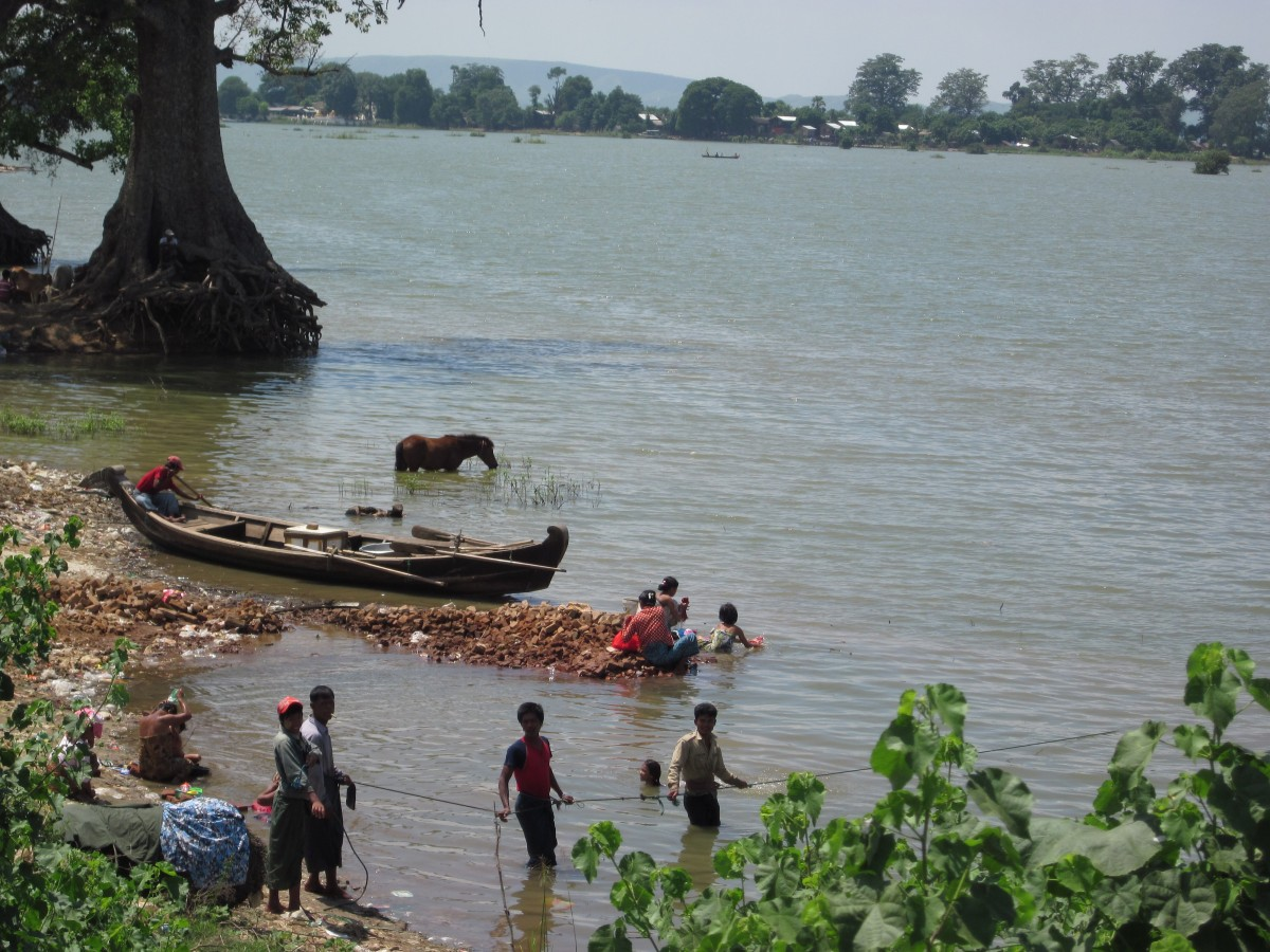 Rivers serve a wide variety of purposes in Myanmar.