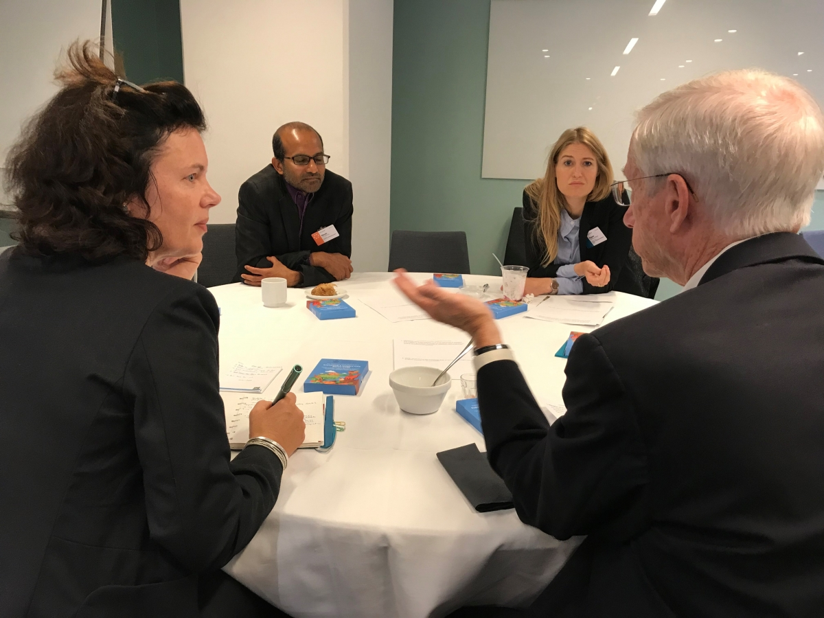 WLE Director Izabella Koziell deliberates with eminent practitioners and researchers at the WLE/EAT side session.