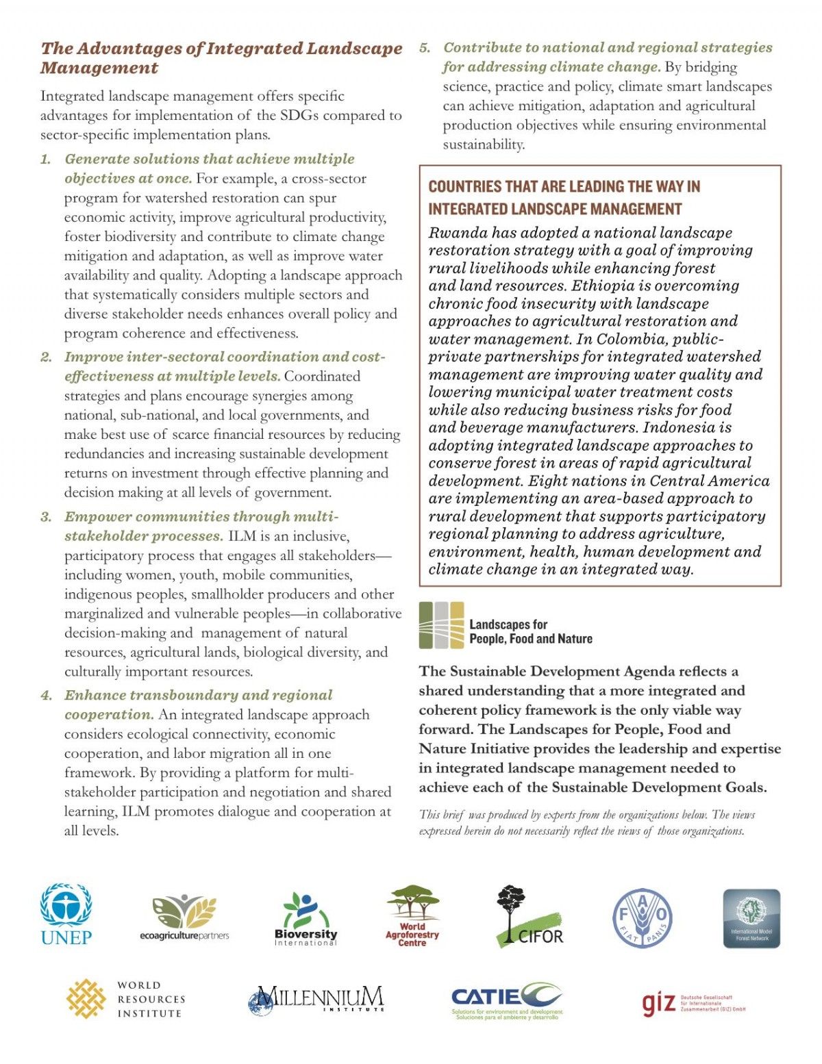 Integrated Landscape Management for the SDGs - page 2