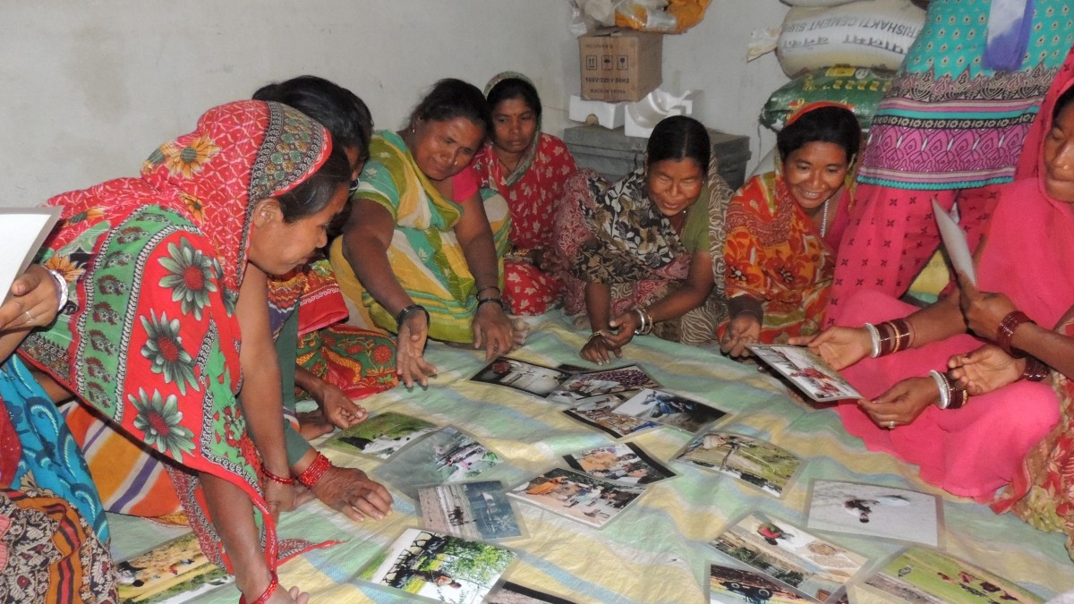 participants in Nepal sort out the division of labor by gender