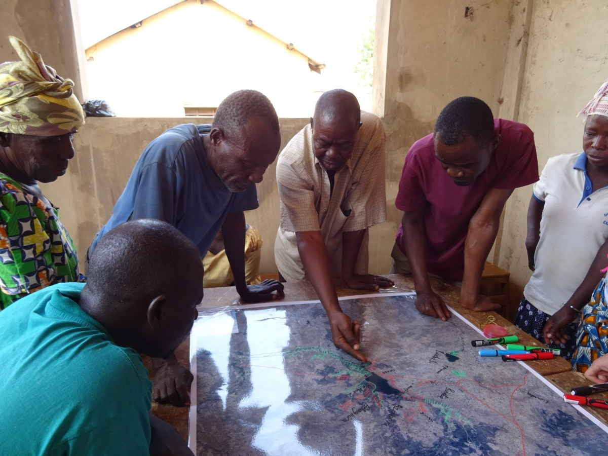 Farmers map out ecosystem services and disservices near Binaba reservoir in Ghana