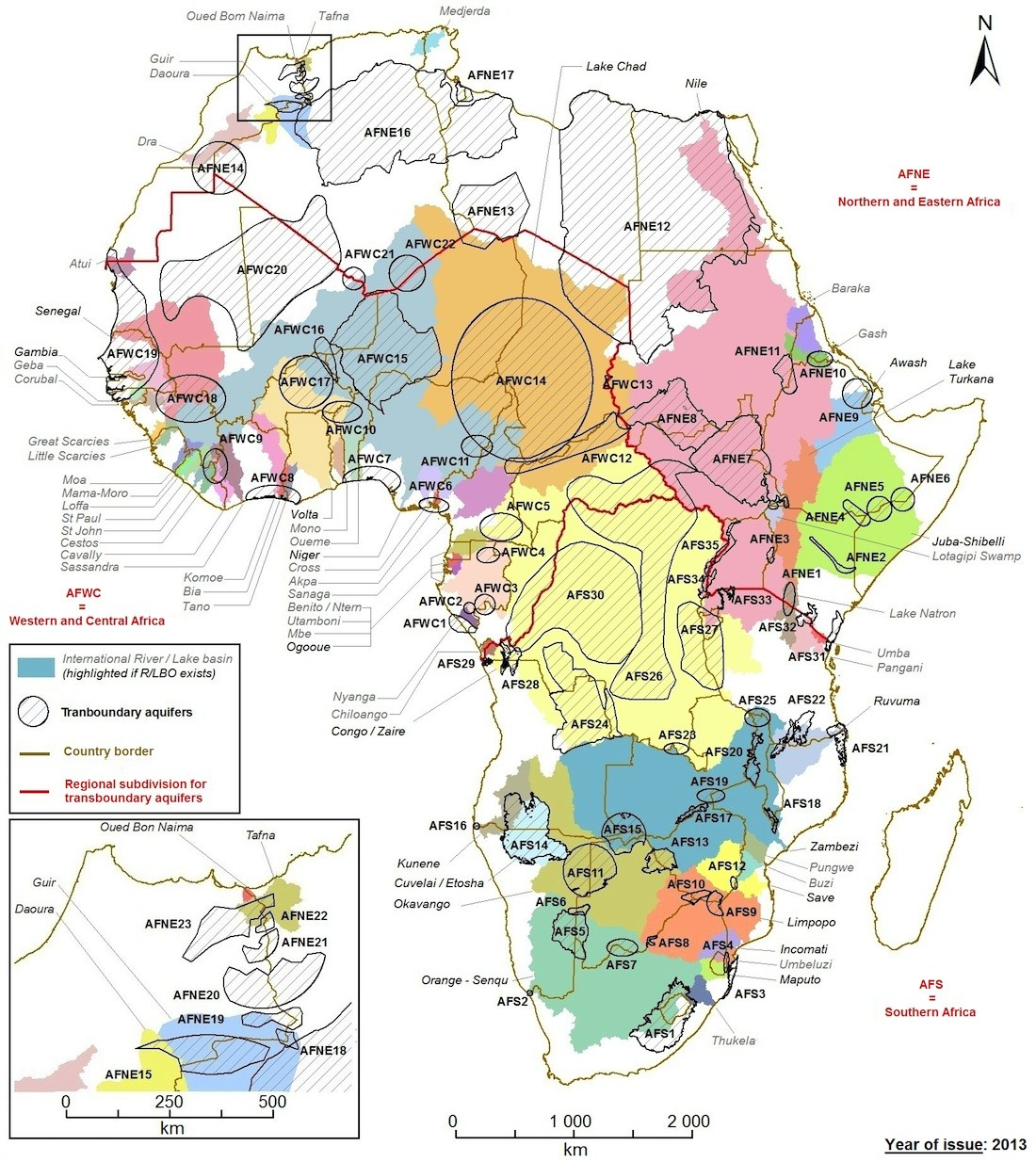 Transboundary Aquifer Map For Africa Water Land And Ecosystems
