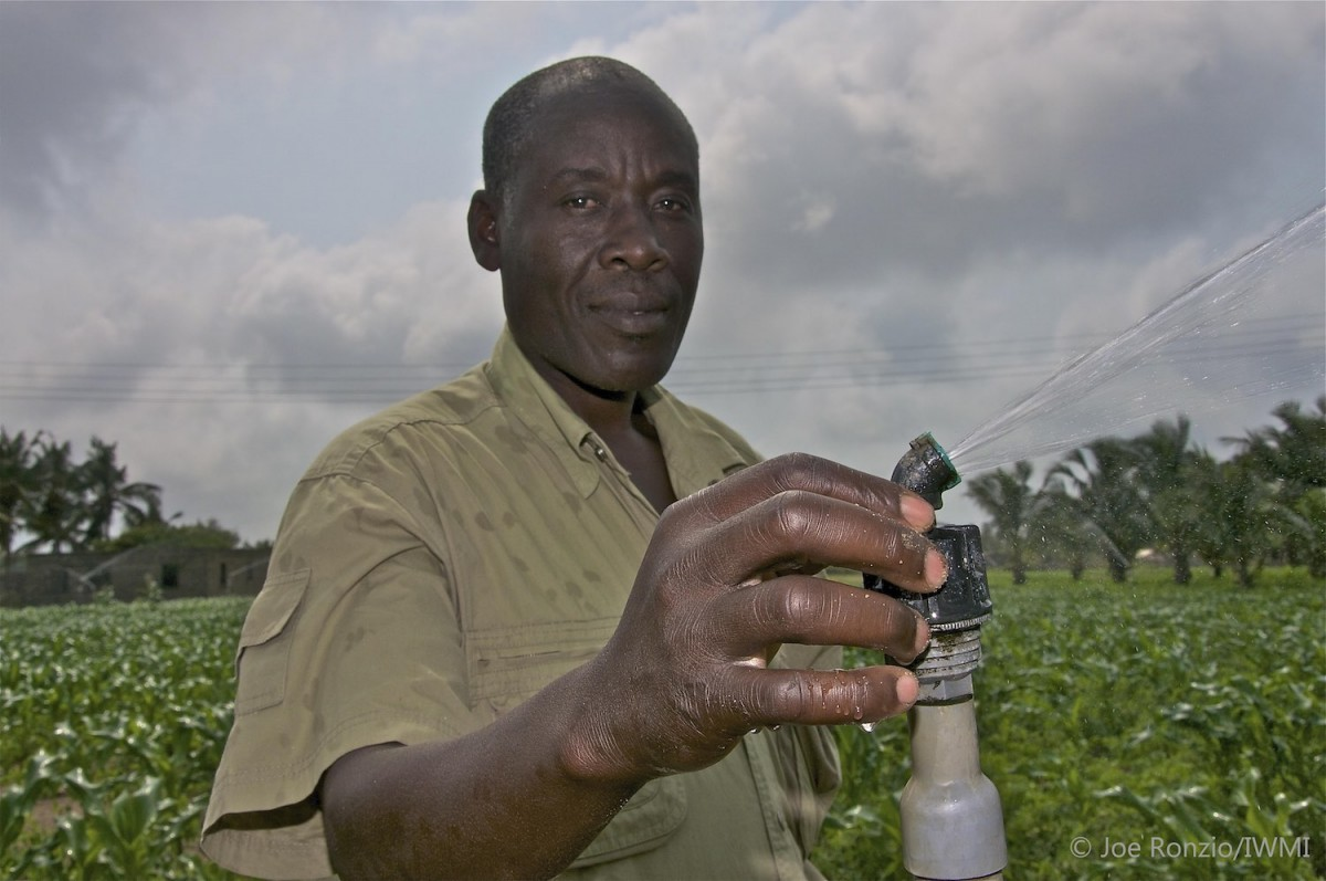 Pumps and sprinkler irrigation in Ghana