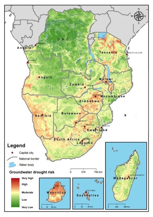 Map Of Africa Sahara.Groundwater Drought Risk In Sub Sahara Africa Water Land And
