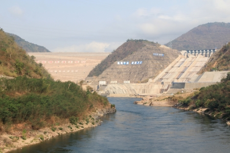 Nuozhadu, the largest dam on the Lancang (Mekong) River