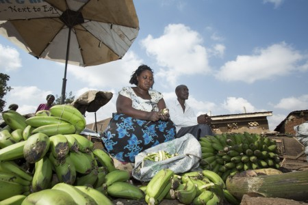 Woman at market in Kampala