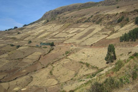 Degraded marginal lands in Ethiopia
