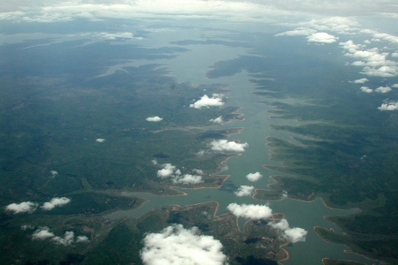 Volta River from the sky