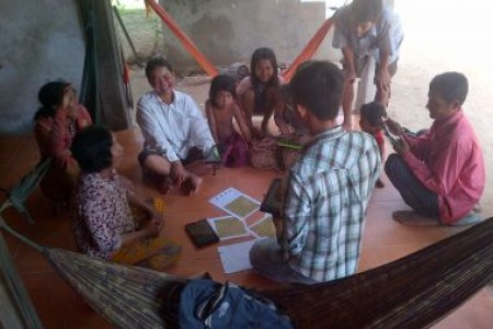Experimental games in Cambodia.