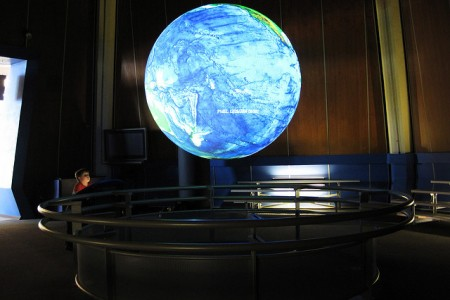 climate change earth display