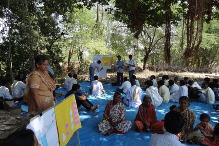 Simulating resource management through game play in India.