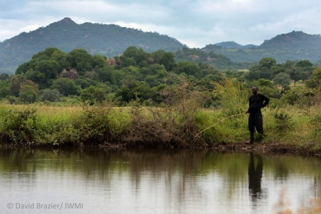 Fishing near a storage dam in Zimbabwe