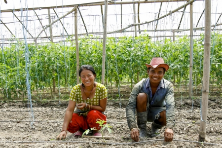 Nepal Drip irrigation man and woman
