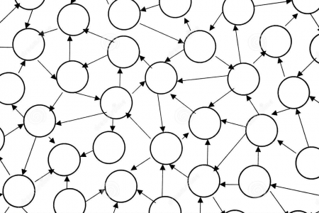 An abstract representation of interconnectivity.