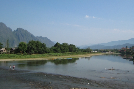 Laos' Nam Xong river (also spelled Nam Song).