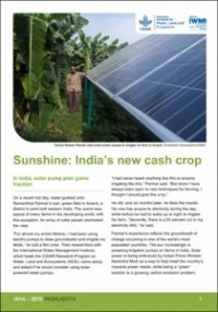 Sunshine: India's new cash crop   Water, Land and Ecosystems
