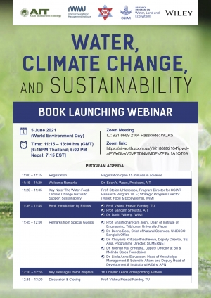 BOOK LAUNCHING WEBINAR - WATER, CLIMATE CHANGE, AND SUSTAINABILITY