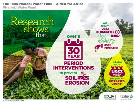 Research shows that over a 30 year period interventions to prevent soil erosion will return US $2 in benefits for every US $1 invested.